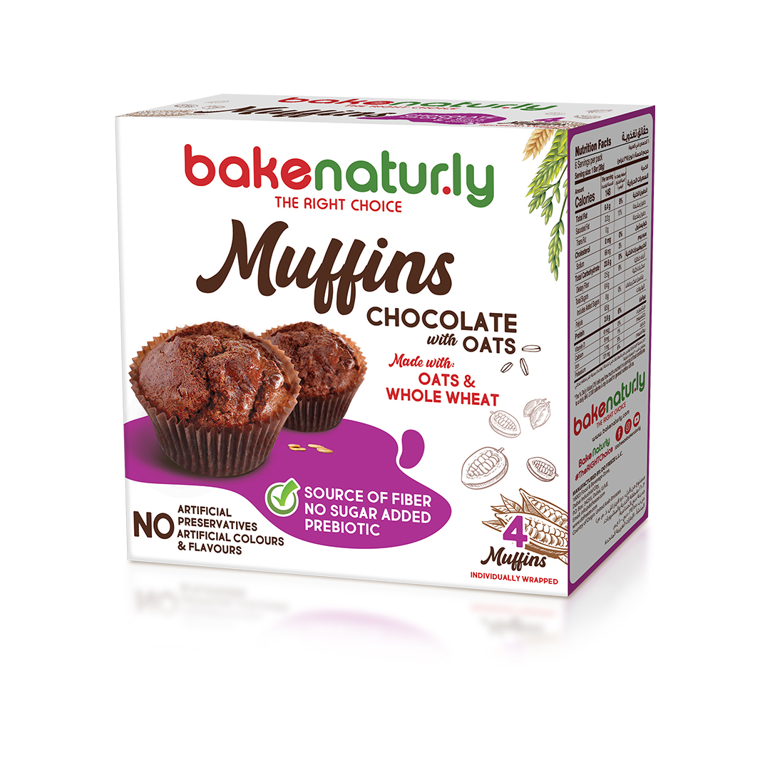 BAKENATURLY MUFFINS 4PC BOX - CHOCOLATE